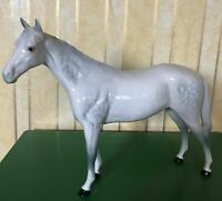BESWICK HORSE LARGE RACEHORSE  DAPPLE GREY GLOSS MODEL 1564  PERFECT