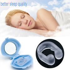 Usful Stop Snoring Nose Clip Anti Snore Sleep Apnea Aid Device Tray Silicon x1