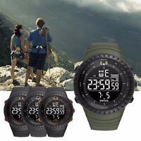 Men Boy Military Army Digital Outdoor Sports Waterproof Sport Resin Wrist Watch