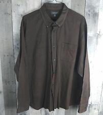 Croft & Barrow Men's brown striped Wrinkle-Resistant Button Up Shirt  Size 2XL