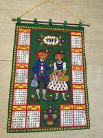 Fabric Wall Calendar 1977