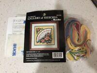 "Bucilla Gallery of Stitches Needlepoint ""Victorian Fan"" 5"" x 5"" 33132"