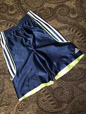 Adidas Boys Size 7 Blue , White And Green Active Shorts