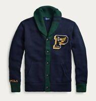 New Mens Polo Ralph Lauren Letterman Cardigan XL Sweater