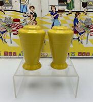 Vintage Harlequin Yellow Homer Laughlin Fiesta Salt & Pepper Shakers