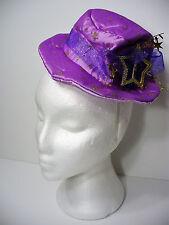 Purple Mini Hat on Headband Gold Stars Deluxe Halloween Hat New