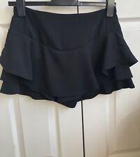 ZARA Woman: Black Frill Skort, Skirt/Shorts, Size Small