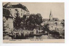 FENETRANGE finstingen Moselle CPA 57 barques sur la sarre