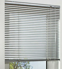 Aluminium Jalousie silber farben Lamellenrollo B/H 130 x 110 cm mit Wendestab
