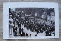 1 Blatt 1914-18 Belgische Soldaten verlassen Gent Belgien 1.WK WWI Ankunft Deuts