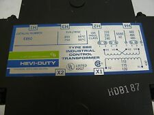 HEVI DUTY E850 TRANSFORMER 0.85KVA 220/440V 230/460V 240/480V