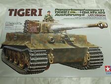 Tamiya 1/35 German Tiger I Tank Late Version Model Tank Kit #35146