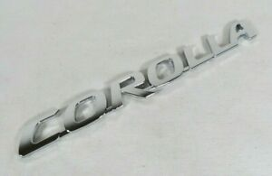 TOYOTA COROLLA EMBLEM 09-20 REAR TRUNK CHROME BADGE back sign symbol logo name