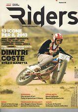 2012 12 - RIDERS - 12 2012 - N.58 - ANNO 7 - DIMITRI COSTE