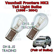Vauxhall Frontera Tail Light Bulbs Pair of Rear Tail Light Bulb Lights (98-04)