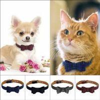 US Pet Puppy Kitten Dog Cat Adjustable Neck Collar Necktie Grooming Suit Bow Tie