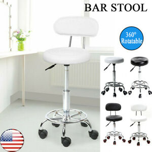 Industrial Swivel Bar Stool Chair Kitchen SPA Adjustable Counter Height w/ Back