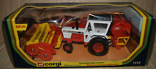 CORGI BOXED 112 DAVID BROWN 1412 TRACTOR AND JF COMBINE HARVESTER