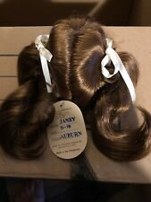 11-12� Long Ponytails Bangs Auburn Janey Wig Modacrylic By Global Dolls Nos