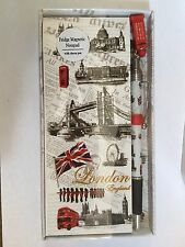 12 X London magnetic notepad With Charm Pen Souvenir Gift