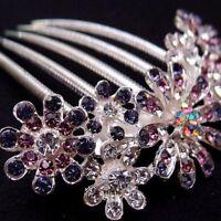 Women Pin Hairwear Jewelry Trendy Hair Comb Accessories 1pcs Flower Rhinestone