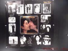 1984 Yoko Ono Milk And Honey John Lennon Record Store Promo Poster Vintage