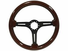 1963 - 1982 Corvette Steering Wheel - Mahogany Wood Finish with Black Center