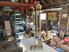 Vintage Brass Horse Head Fireplace Tools Set  Lot 17-9-10