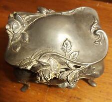 Floral Victorian Art Nouveau W.B. 377 Co. Jewelry Trinket Box! Not Scrap 10.4 oz