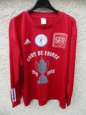 Maillot COUPE DE FRANCE 2003 porté n°12 rouge vintage ADIDAS manches longues XL
