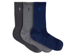 Polo Ralph Lauren Men's US Size 10-13 Technical Sport Crew Sock 3-Pack - Multi