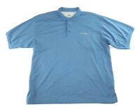 Men's Columbia PFG Omni Shade Blue Short Sleeve Polo Fishing Shirt Size XL