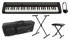 Casio CT-S1BK Casiotone Keyboard Black Deluxe Set Ständer Bank Tasche Kopfhörer