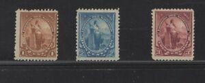 El Salvador 91 - 93 - Liberty. Mint No Gum. Set Of 3.      #02 SAL91s3