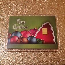 1 Gramm Gold 999,9 + Zertifikat ► 1g Goldbarren ► Weihnachten Merry Christmas