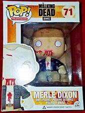 THE WALKING DEAD MERLE DIXON 71 VAULTED FUNKO POP! W/ PROTECTIVE CASE RARE NEW!!