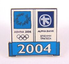 Athens Olympic Games 2004 Pin Badge - Emblem Alpha Bank Sponsored Enamel Badge