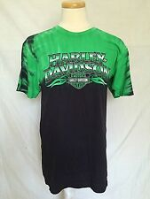 Harley-Davidson Mens T-Shirt Sz Medium Haven Virginia Beach Green Black 2013
