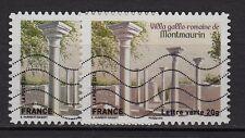 """29d** x2 Timbres Lettre verte 20 g (""""MONTMAURIN"""") Variété + Normal (clair/foncé"""