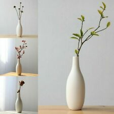 Flower White Matte Cylinder Vase Ceramic Porcelain Plants Flowers Decoration New