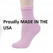 12 Pair Women's Pink Diabetic Quarter Crew Socks Size 10-13,  Shoe Size 8-12