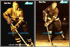 2x STAR PICS 1991 ALEX DELVECCHIO #10 JEAN BELIVEAU NHL SUPERSTAR LEGEND #4 LOT