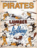 1977 Baseball Program Los Angeles Dodgers @ Pittsburgh Pirates, unscored ~ Fair