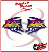 Suzuki DR 650R Dual  Sport Fuel Decal Sticker 1996 1997 DR650 Left And Right Set