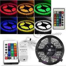 5M 5050 RGB 300 LED Non-Waterproof  SMD Flexible Light Strip DC12V +24key Remote
