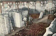 Old Postcard - Interior of Flour Mill - Stockton CA