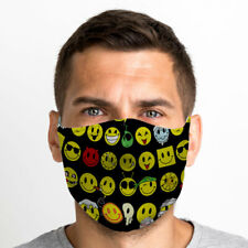 Acid Smileys One Size Reusable Washable Breathable Face Mask From UK