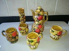Ardco fine quality Dallas Harvest fruit design 7pc Coffee or Tea Set