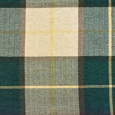 """SAMPE OF 54"""" Wide Drapery Upholstery Plaid Chenille Fabric Hunter Green"""