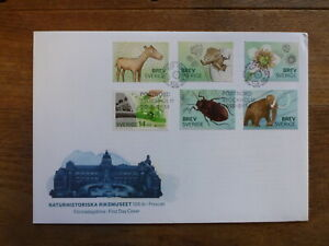 SWEDEN 2016 MUSEUM OF NATURAL HISTORY SET 6 STAMPS FDC FIRST DAY COVER